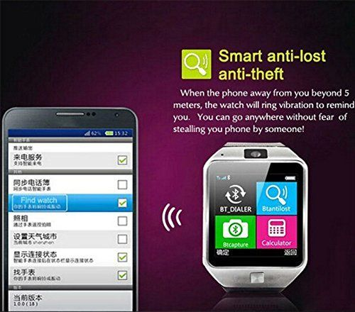 TKSTAR Smart Watch Touchscreen Bluetooth Watch Camera Tmobile Text and Call for Iphone Compatible,Fitness Tracker Watch for Women Kids Men Play Music,Sleep Monitor Watch White   Product Description Highlight Features: • GSM 850 / 900 / 1800 / 1900 MHz, Single Micro SIM Card • Bluetooth Dialer,