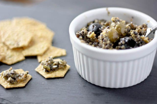 Green and Black Olive Tapenade