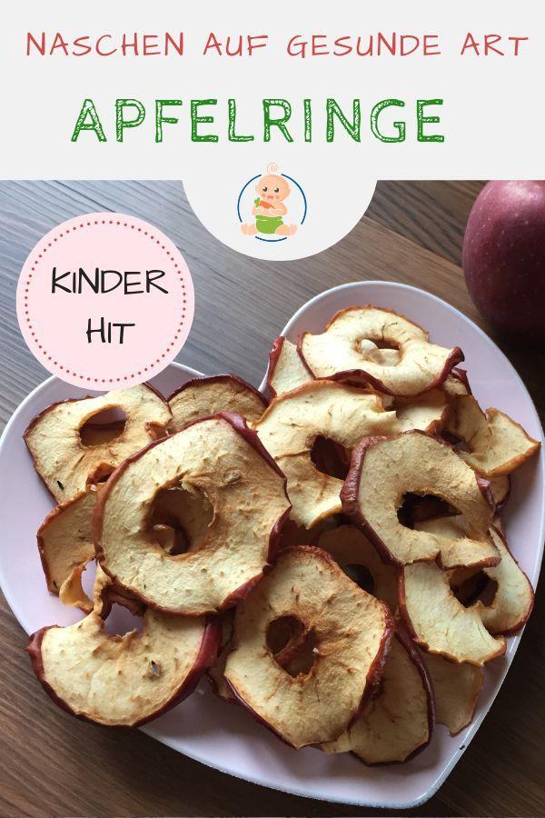 Apfelringe selber machen und einen gesunden Snack zu sich nehmen – ideal für Babys, Kinder und Familien …   – Backen für Babys