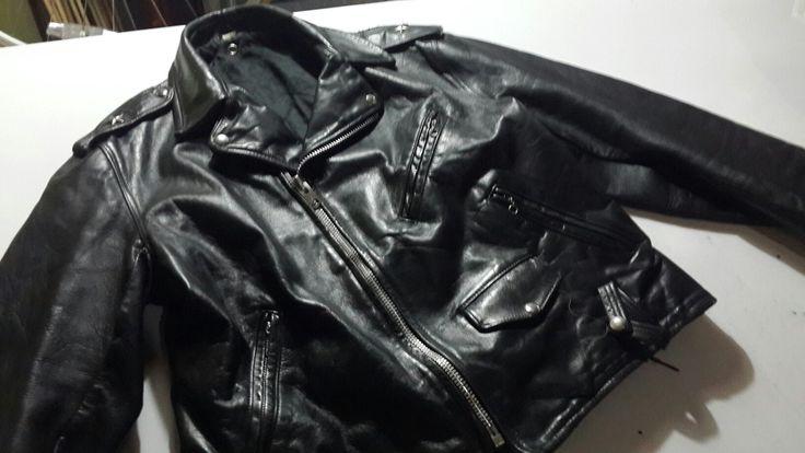 Genuine leather jacket, S size, unisex. SOLD