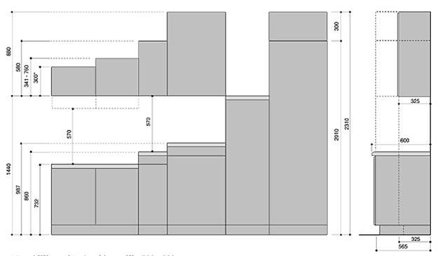 оптимальные размеры кухонных шкафов