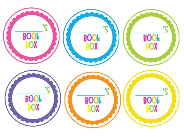 Book Box Labels: Free Download!