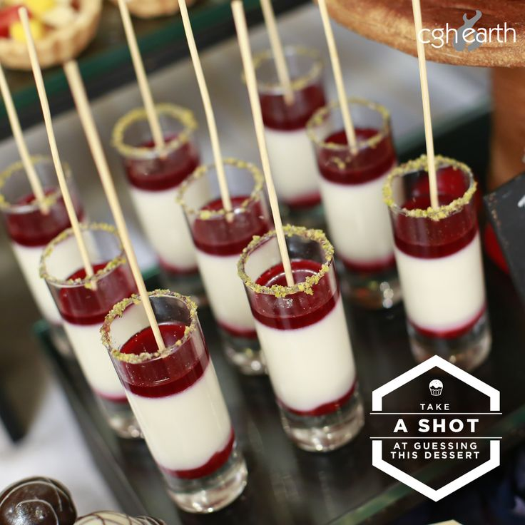 Raspberry Panna Cotta   This yummy Italian dessert is a regular on the buffet at Tharavadu Restaurant. We serve these creamy and healthy creations in cute shot glasses. #MeandCGHEarth #desserts