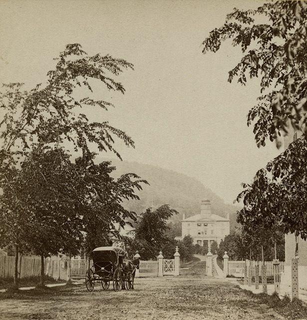 Gates to McGill University, McGill College Avenue, Montreal, QC, 1869.