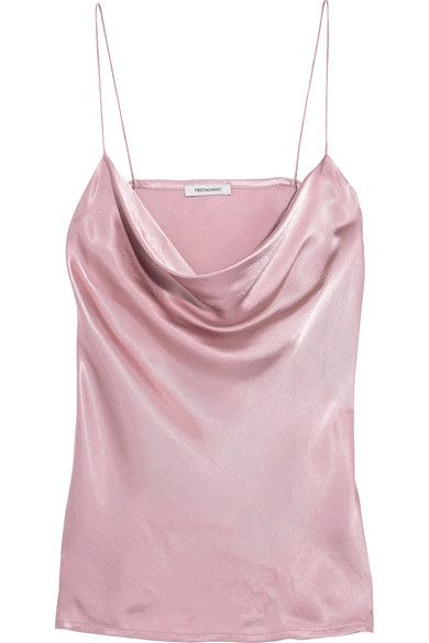 PROTAGONIST Draped hammered-charmeuse camisole. #protagonist #cloth #tops