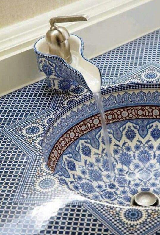Las 25 mejores ideas sobre ba o marroqu en pinterest - Azulejos mosaico bano ...
