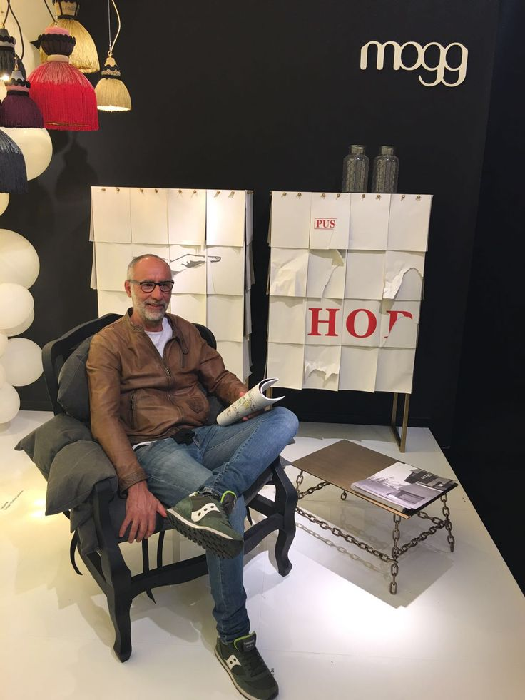 MOGG at Pad. 10 Stand B 07 with our #photographer #EzioManciucca #SaloneDelMobile #Salone2016 #InteriorDesign #MDW #MilanDesignWeek