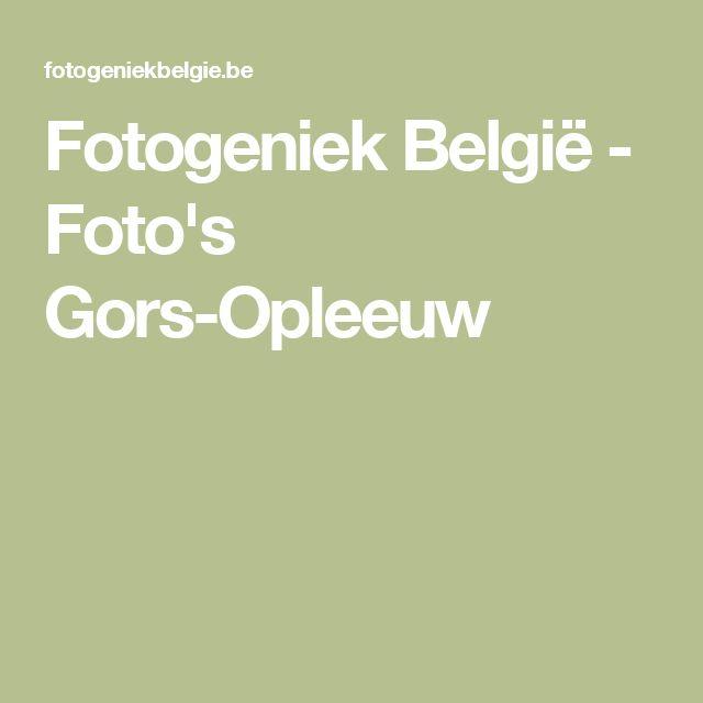 Fotogeniek België - Foto's Gors-Opleeuw