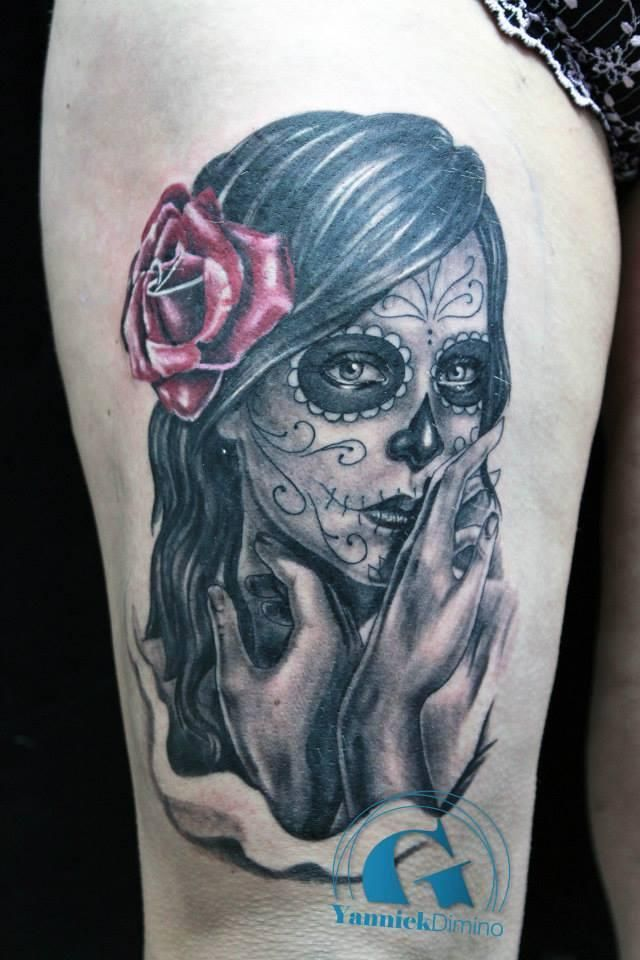 1000 id es sur le th me tatouage mexicain sur pinterest cr ation de tatouages azt ques visage - Santa muerte signification ...