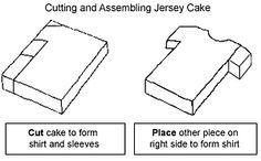How to cut a shirt cake.