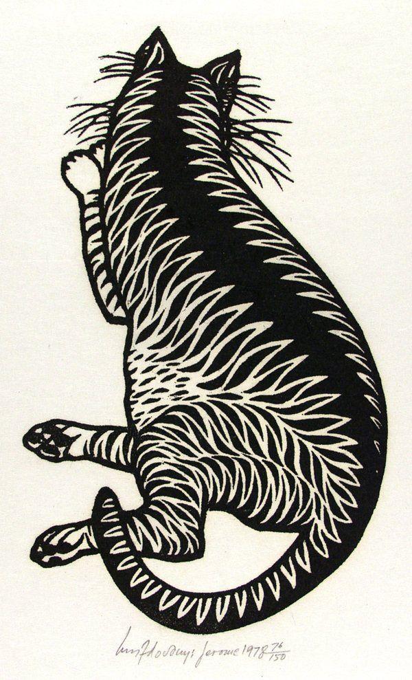 Jacques Hnizdovsky (Ukrainian/American, 1915-1985). Jerome. Woodcut. 1978.
