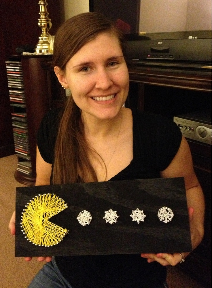 Pac-Man string art - to make