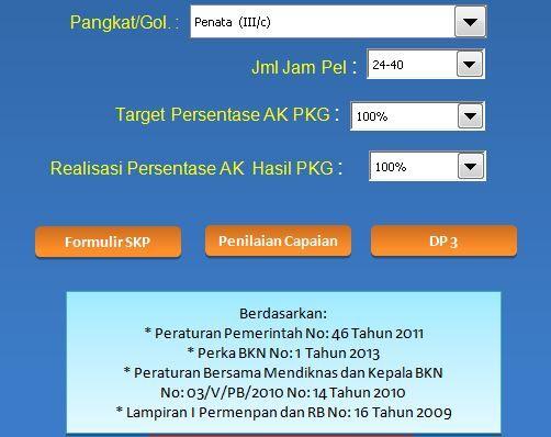 [.xls otomatis] Download Aplikasi SKP untuk Kenaikan Pangkat Tahun 2016 Format Microsoft Excel