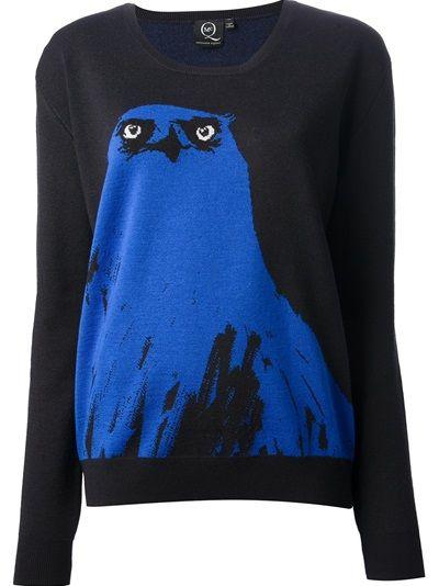 MCQ BY ALEXANDER MCQUEEN  Owl Sweater http://www.farfetch.com/shopping/women/mcq-by-alexander-mcqueen-owl-sweater-item-10546386.aspx?storeid=9339