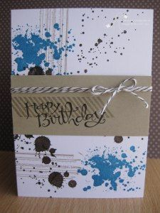 Morning Stampers, Today I want to share with you, a masculine card that I made using the Gorgeous Grunge Stamp Set. I love how it turned out and was so quick to make! Stampin' Up! products used: St...