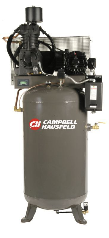Campbell Hausfeld CE7001FP Three Phase 5HP Air Compressor with 80 Gallon Vertica Air Compressors Stationary Electric
