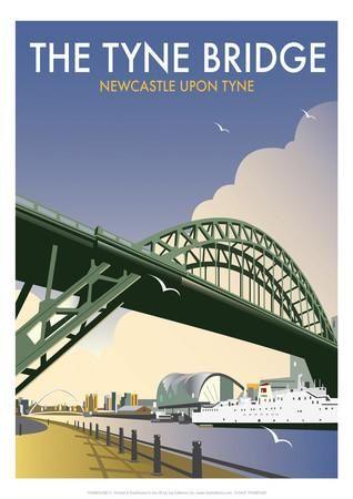 Tyne Bridge - Dave Thompson Contemporary Travel Print Giclee Print by Dave Thompson at Art.co.uk