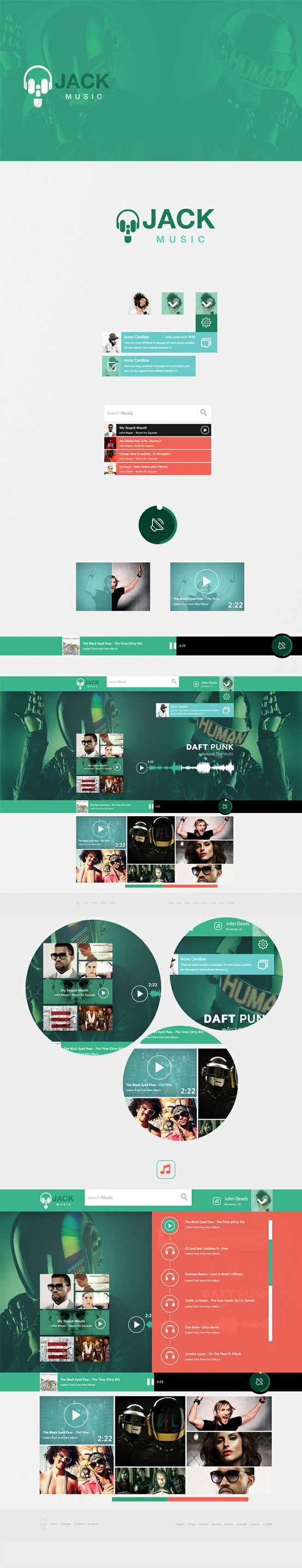 Music Jack (web site concept) by Cüneyt SEN, via Behance