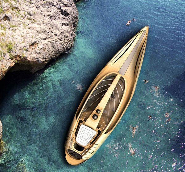 "Elegant Yacht ""Cronos"". Designed by Italian students, Simone Madella and Lorenzo Berselli. Lovely!"