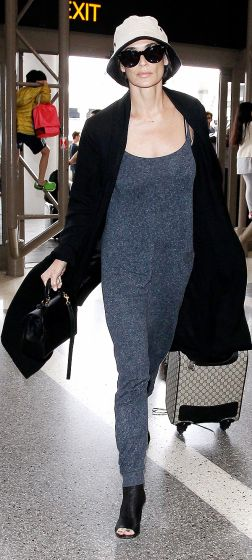 Demi Moore catches a flight out of LAX.