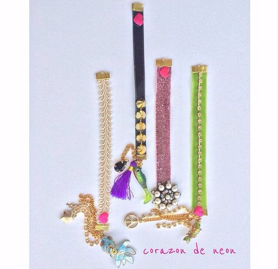 Charm bracelets by corazondeneon on Etsy, $10.00