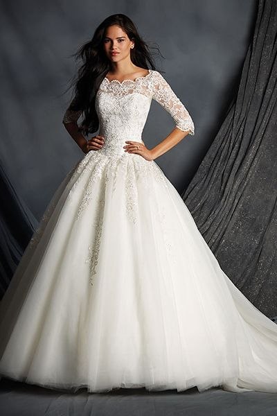 Wedding gown by Alfred Angelo.Check out more gorgeous dresses in our Alfred Angelo gown gallery ►