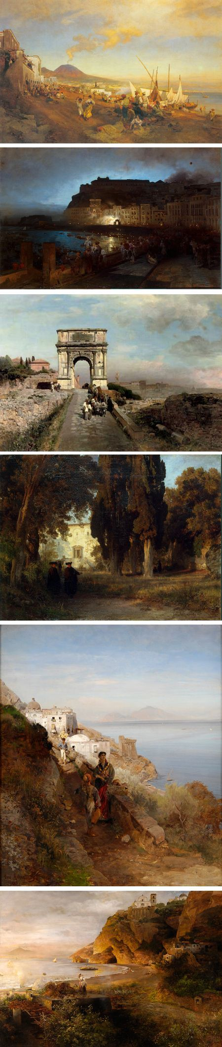 Oswald Achenbach was a 19th century German landscape painter who found his greatest inspiration in Italy.