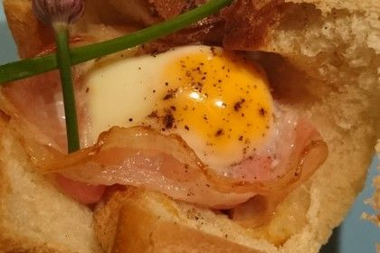 Gebackene Toast-Muffins mit Ei und Speck 1