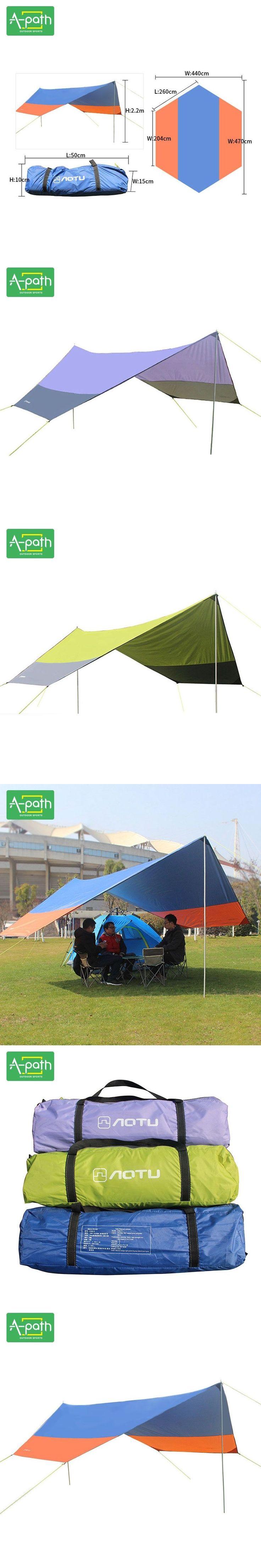 8 Person Large Outdoor Camping Sun Shelter Tarp Awning Beach Fishing Umbrella Party Garden Folding Car Tent Arbor Snowglobe #FishingUmbrella