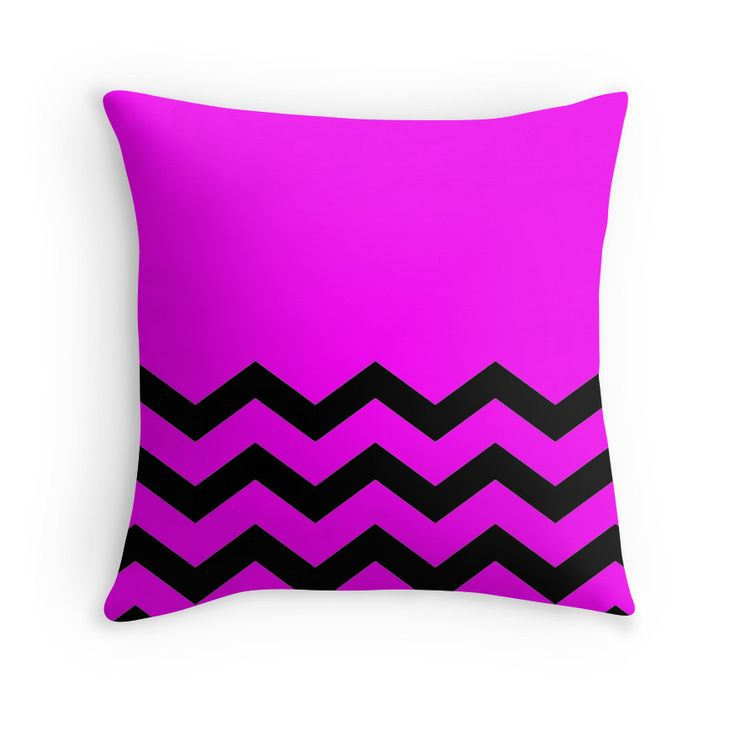 Beautiful Cushions/Chevron/ Pink Black