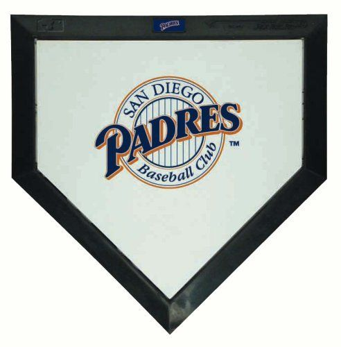 """San Diego Padres Mini Home Plate by Schutt. $17.64. One mini plate MLB teams. 93/4""""X10"""". Same as plate used in MLB. Official supplier to MLB baseball mini logo home plates. Save 20% Off!"""