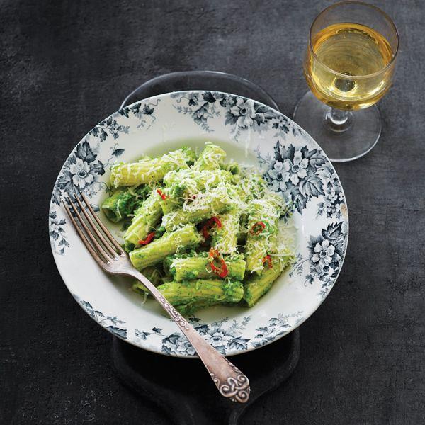 Pasta med broccolipuré