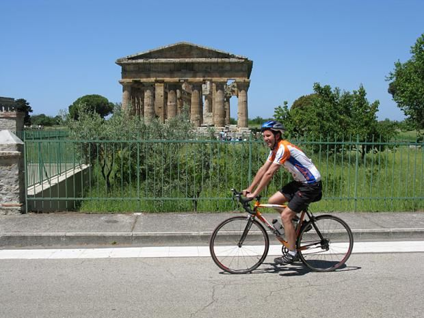 Cycling at Paestum
