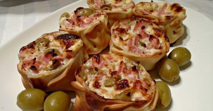 Canastitas de jamón y queso