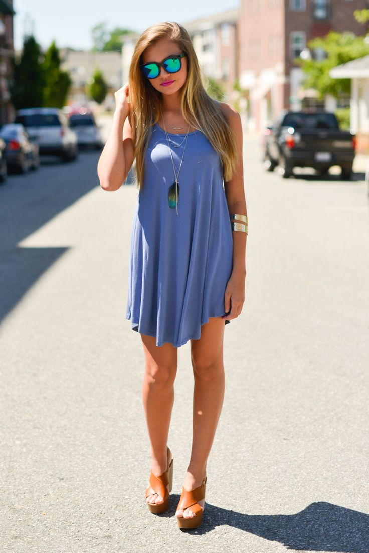 Swingy t shirt dress #swoonboutique