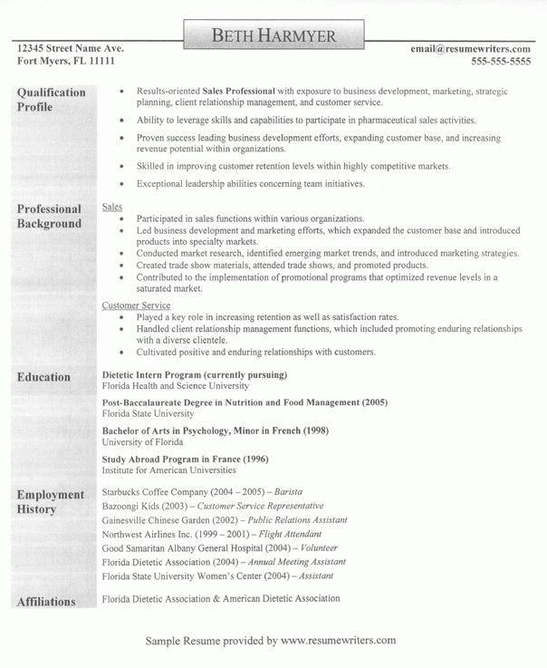 profile for a resume examples resume profile examples kathrynostenberg throughout resume profile ... #sampleResume #FreeResume