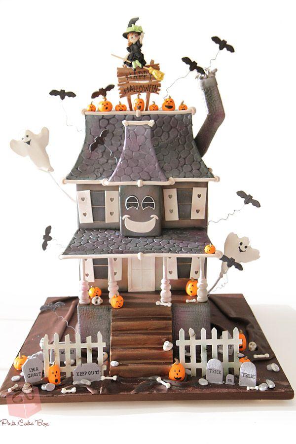 Happy Haunted House Cake   http://blog.pinkcakebox.com/happy-haunted-house-cake-2014-10-27.htm