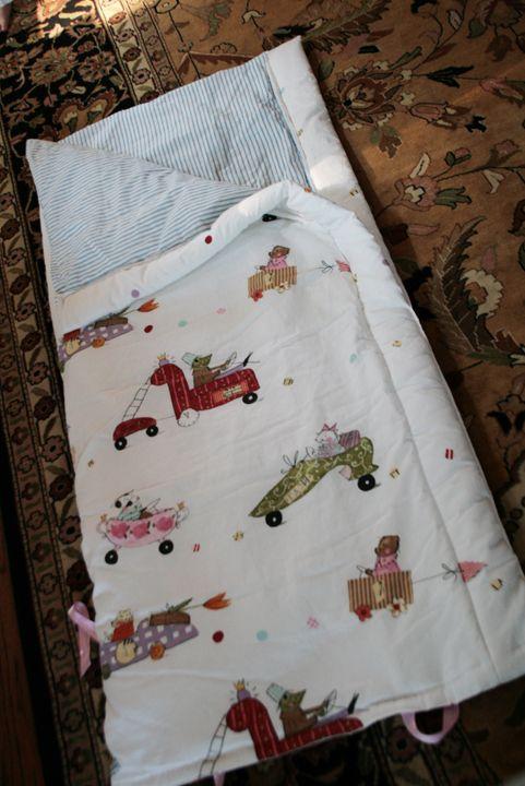 DIY toddler sleeping bag with Ikea duvet & insert.
