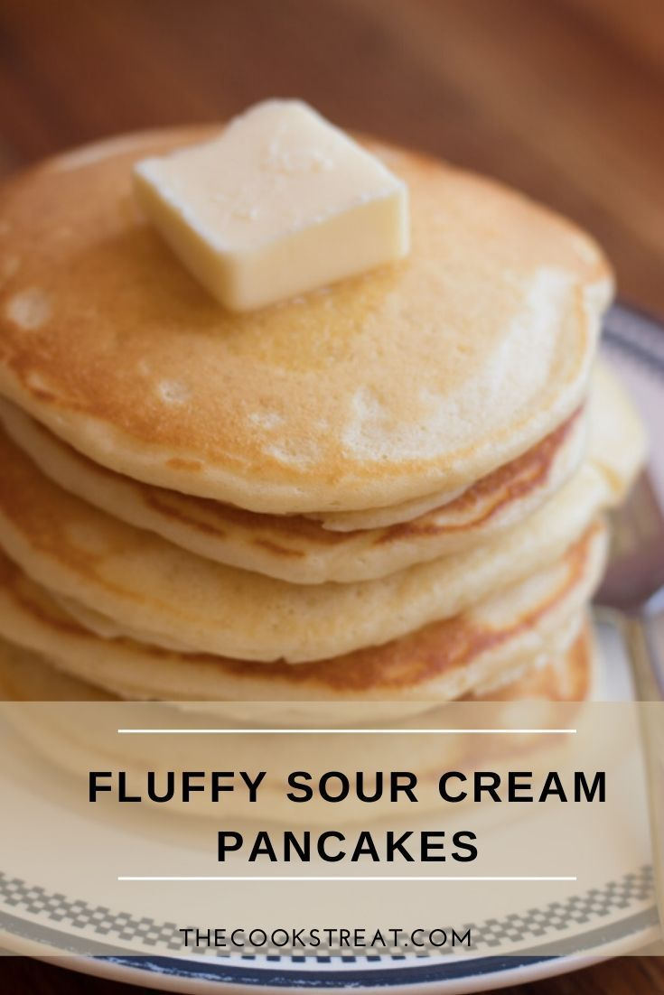 Fluffy Sour Cream Pancakes Whole Grain Option The Cook S Treat Recipe In 2020 Sour Cream Pancakes Sour Cream Whole Grain Pancakes