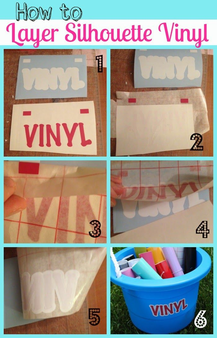 Silhouette School: Silhouette Layering Vinyl Tutorial (The No-Fail Method)