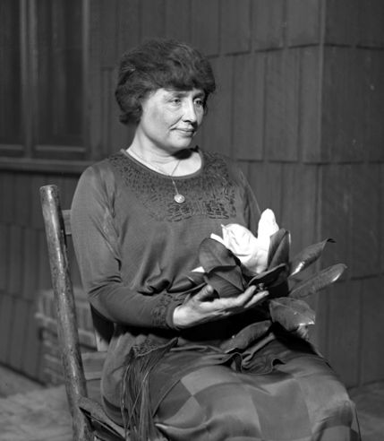 A prolific author, Helen Keller was well-traveled, and was outspoken in her anti-war convictions. A member of the Socialist Party of America and the Industrial Workers of the World, she campaigned for women's suffrage, labor rights, socialism, and other radical left causes. She was inducted into the Alabama Women's Hall of Fame in 1971.