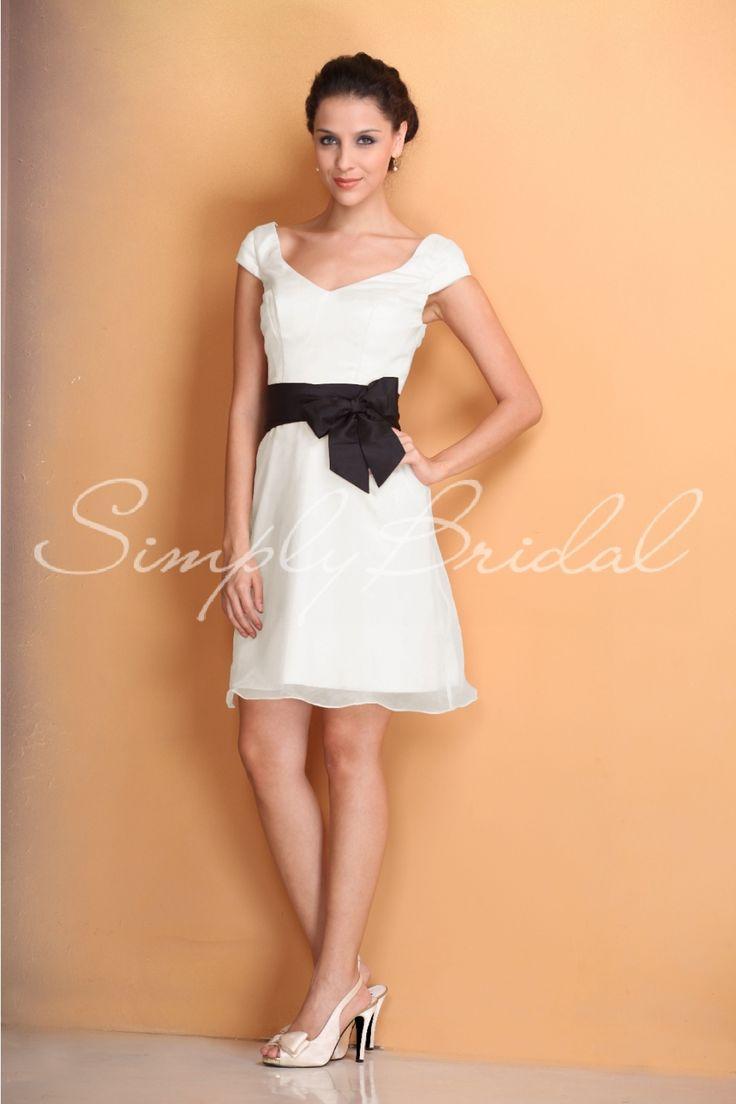 Simply black wedding dresses