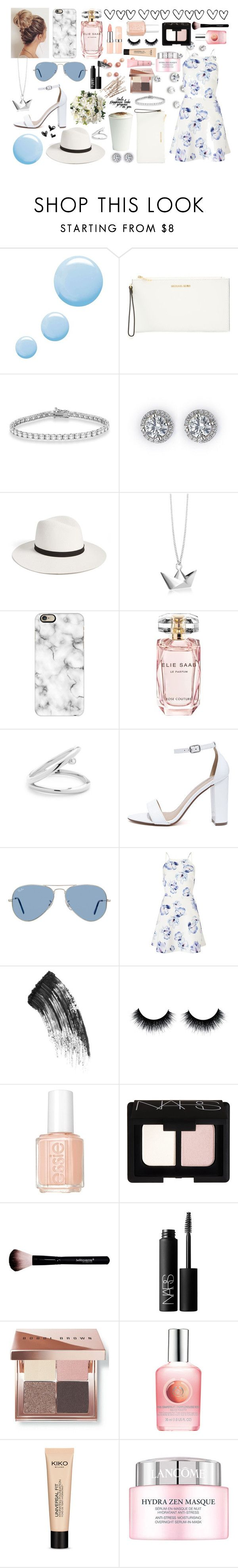 """A Birthday Treat"" by flyingimage ❤ liked on Polyvore featuring Topshop, MICHAEL Michael Kors, Allurez, Janessa Leone, Origami Jewellery, Casetify, Elie Saab, My Delicious, Ray-Ban and Lipsy"