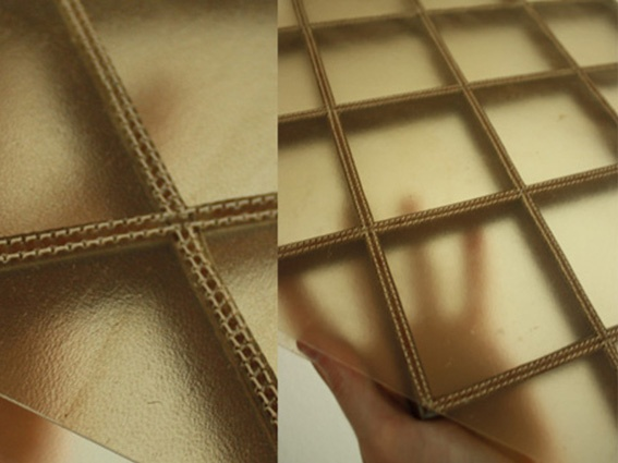 "sellette en Cuir ""transparent"" - Design by Didier VERSAVEL"