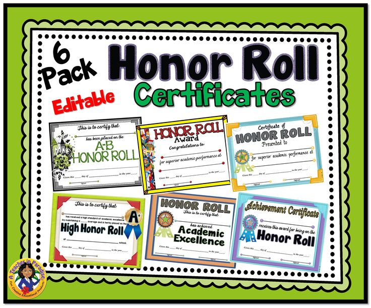 Pack honor roll certificates student the o jays and dr who