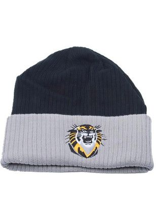 Fort Hays State Tigers Mens Black Rib Cuffed Knit Hat
