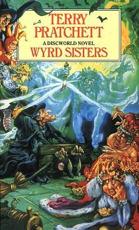 The Wyrd Sisters, by Terry Pratchett. From Terry Pratchett's Discworld. Click on the cover to read the review by Shauna.
