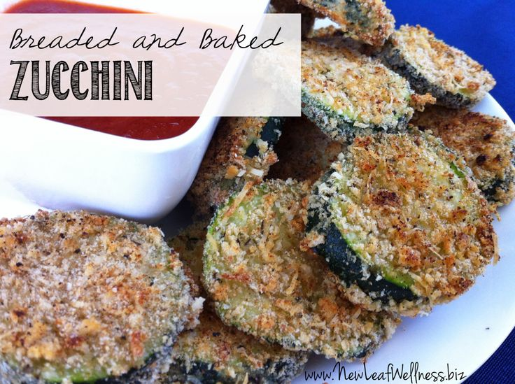 Breaded and baked zucchini - New Leaf Wellness. This recipe is so good!
