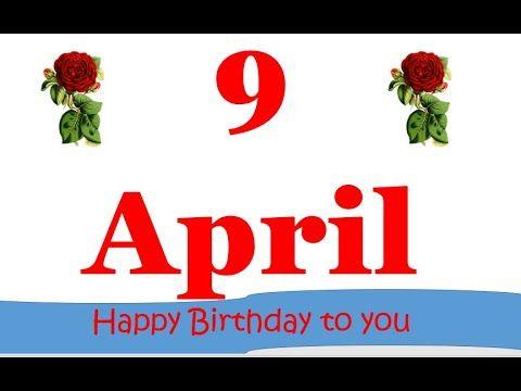 9 April Birthday Status