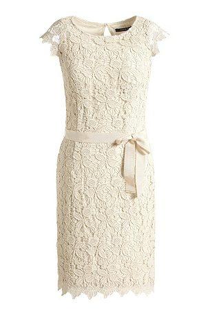 Etui-Kleid aus Spitze,
